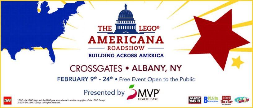The Lego Americana Roadshow hits Crossgates Mall in Albany, NY